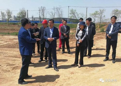 扶风县县长齐军建检查新兴产业园项目