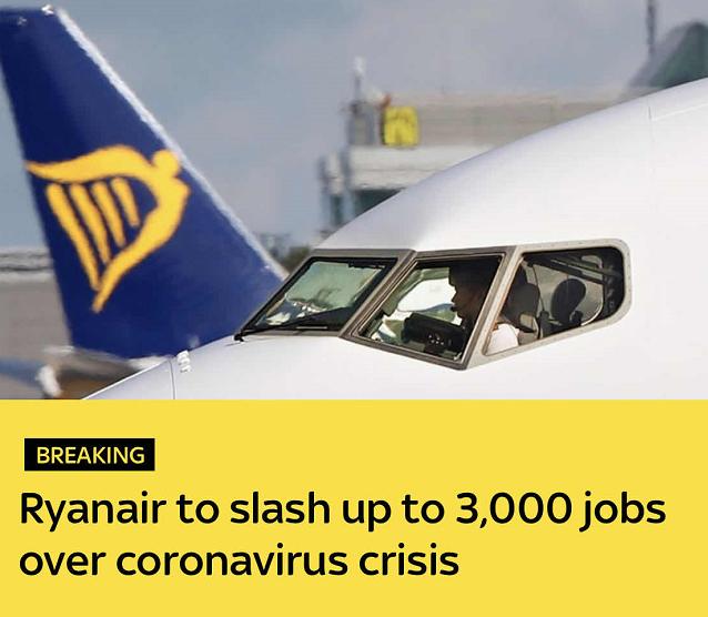 欧洲最大廉价航空公司瑞安航空计划裁员3000人